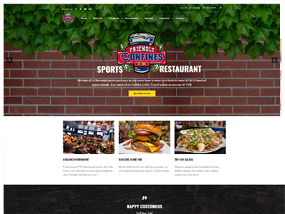 restaurant website design tampa