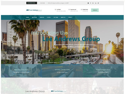 Lee andrews Group website design California